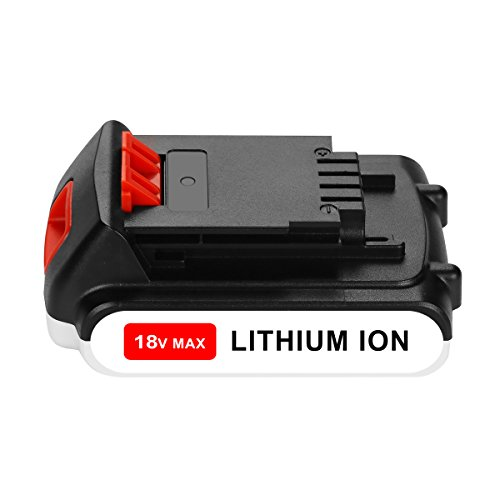 OPSON 18V 2,0Ah Batteria di Ricambio per Black + Decker 18V BL2018 LBXR20 LBXR2020-OPE LB20 LBX20 BL2018-XJ GKC1825L GTC1850L20 STC1820