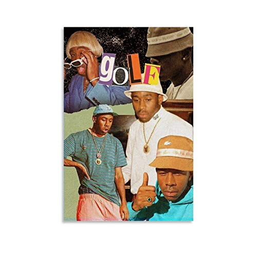 JDQS Rapper Tyler The Creator Hip-pop Art Collage 1 Poster Decorative Painting Canvas Wall Art...