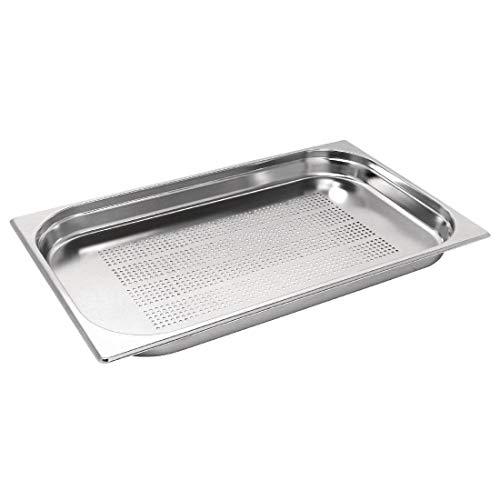 Vogue K839 en acier inoxydable perforé 1/1 Gastronorm Pan, 40 mm
