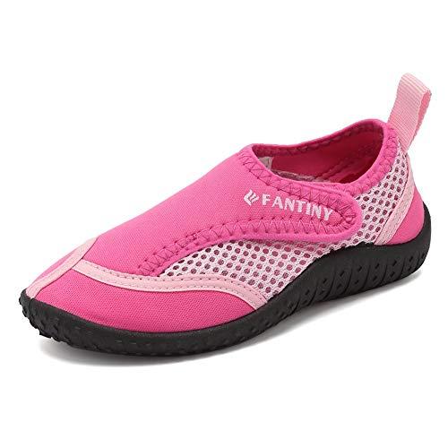 Merence Dziecięce buty do wody dla dzieci, buty do pływania, na plażę, szybkoschnące, buty sportowe dla dziewcząt i chłopców, - Zapięcie na rzepy, - 25 EU