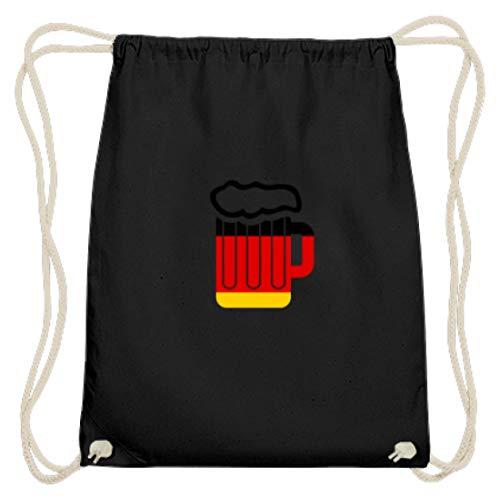 Jarra de cerveza con la bandera de Alemania, Oktoberfest, cerveza, Amor Múnich Baviera, tienda de campaña de algodón, color Negro, talla 37cm-46cm
