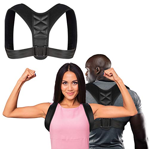 Posture Corrector for Men and Women - Comfortable Upper Back Brace for Clavicle Support, Adjustable Back Straightener, Providing Pain Relief for Neck, Back & Shoulders, under or over clothes