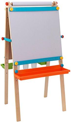 KidKraft 62026 Caballete artístico de madera para niños con rollo de...
