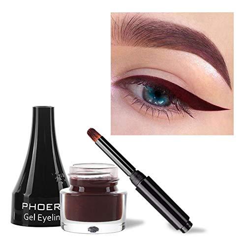 Allbestaye Couleur Eyeliner Gel Liner Coloré Matte Imperméable Bleu Violet Vert Blanc Marron Or Maquillage Pour Les Yeux