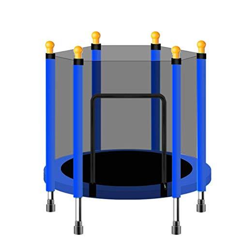 ZHUSHI 140 Cm / 54 Pulgadas, Bebé, Niños, Hogar, Interior, Trampolín, Salto, Ejercicio Físico, con Protección, Cama De Red, Cama para Exteriores (Color : Blue)