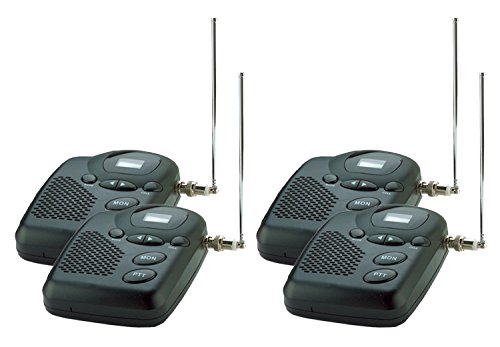 Wireless Intercom System- MURS Long Range up to 4 Miles. Four Room Set.