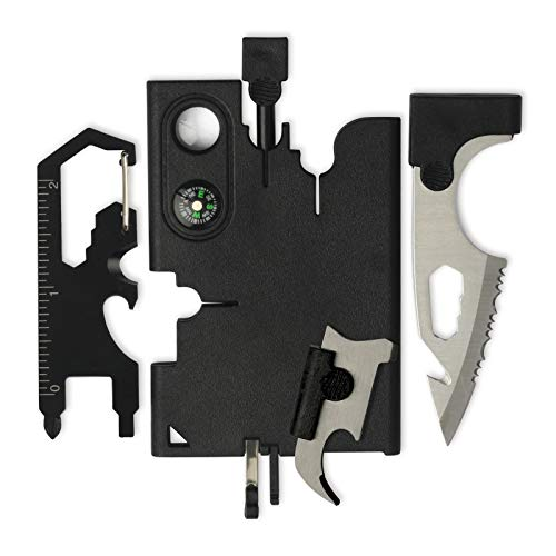 Credit Card Tool Multitool Mens Stocking Stuffers Survival Wallet With Blade, Multitool Cool Gadgets 19 in 1 Survival Tools Gifts for Men Husband Boyfriend Outdoorsy Hiking Hunting Camping
