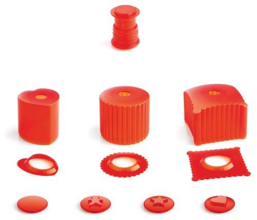 mastrad Deco-Cutter - kit découpe & décoration - Rouge