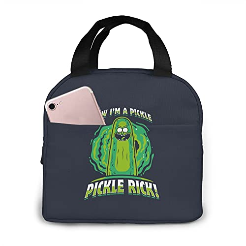 Pickle Rick - Bolsa de almuerzo aislada, impermeable, reutilizable, para mujeres, adultos, picnic, trabajo, escuela, etc