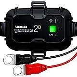 NOCO GENIUS2DEU, Integrado de Montaje Directo de 2A, Cargador 12V, mantenedor desulfatador de batería con compensación de Temperatura