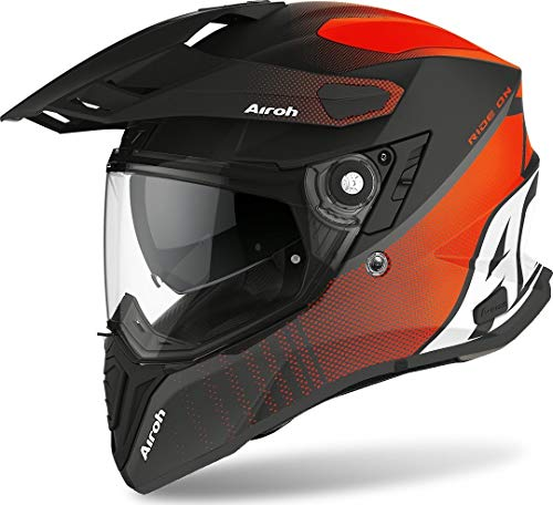 CASCO AIROH COMMANDER PROGRESS ORANGE MATT L