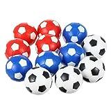 BESPORTBLE 12 Piezas de Futbolín de Mesa de Repuesto Mini Bola Oficial de Juego de Mesa para Entretenimiento en Blanco Y Azul Y Blanco Rojo Y Blanco