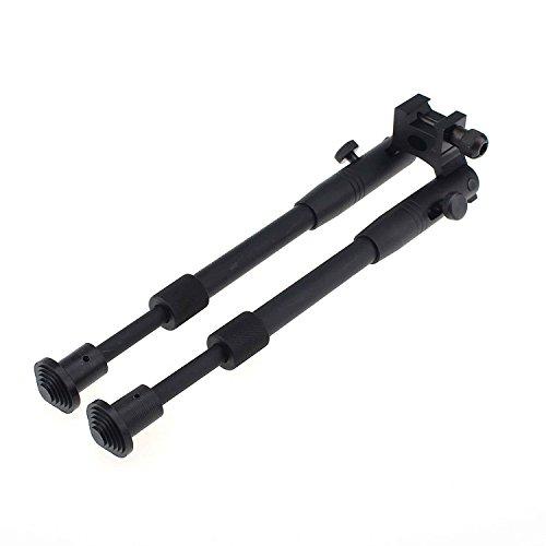 """BigTron Accessoires Tactiques - Bipied Carabine Bipod à Montage pivotant réglable de 6""""à 9"""" avec Adaptateur à Barillet Universel à Double Verrouillage"""