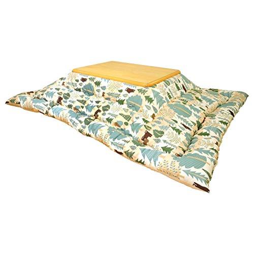 眠り姫 日本製 こたつ掛け布団 大判長方形 ベア 205×245cm オックス 綿100% 厚掛け