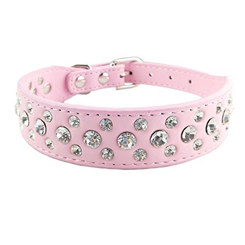 Newtensina Collare degli Animali Collare dei Cuccioli di Bling Collare Cane Carino con Diamante per Le Ragazze