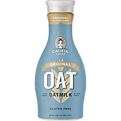 Califia Farms Oat Milk, Original, Non Dairy, Plant Based, Vegan, Non-GMO, Oats, 48 Fl Oz (Pack of 1)