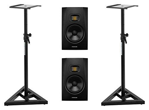 2 Stück Adam Audio T7V Set mit Boxenstativen (7