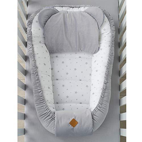 Sevira Kids – Coco para bebé acolchado aterciopelado – nido reductor de cama, STELLA