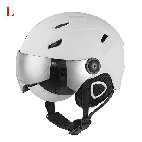 Skihelm Einstellbare Radfahren Sichere Helme Schutzbrille Snowboard Stoßfest Helm Maske Skifahren Zubehör für Männer Frauen