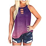 Gerichy Summer Tank Tops for Women, Vest for Women Plus Size Womens Camisoles and Tanks Summer Casual Button V Neck Spaghetti Strap Cami Loose Fit Tank Tops Vest Blouse