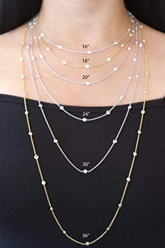 14K Yellow Or White Gold 1.0mm Shiny Non-Diamond Cut Shiny Bead Bead Chain Necklace for Pendants and Charms with lobster-Claw Clasp (16