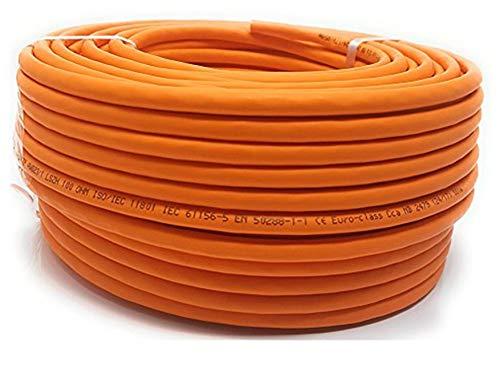 Reulin 25 m Cat 7 Reel Ethernet-kabel halogenfri 1 000 MHz – koppar supersnabb nätverkskabel PoE/PoE+