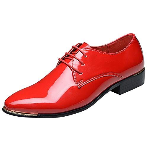 zpllsbratos Zapatos de Cordones Cuero Hombre Zapatos Charol Vestir Negocios Boda Oxford...