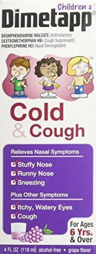 Dimetapp DM Cold & Cough Elixir, 4 Fl Oz