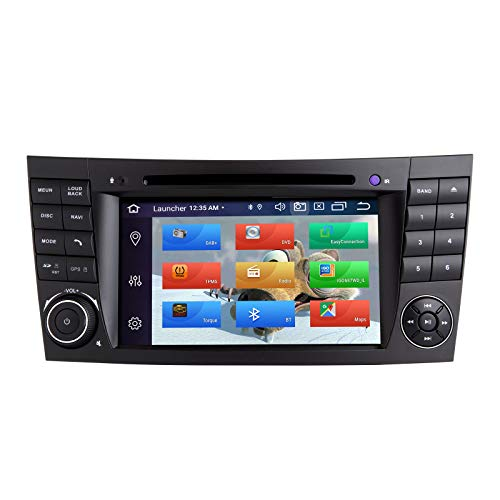 ZLTOOPAI Autoradio Stereo für Mercedes Benz E-Klasse W211 CLS W219 Android 10 Octa Core 4G RAM 64G ROM 17,8 cm IPS Bildschirm Doppel DIN im Armaturenbrett GPS Navigation DVD Player