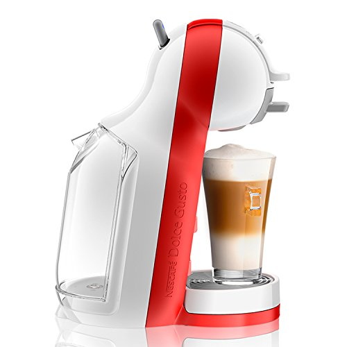Nescafé Dolce Gusto Mini Me De'Longhi EDG305.WR - Cafetera de cápsulas, 15 bares de presión, color blanco y rojo