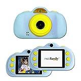 SaveFamilyCam. Cámara de Fotos para Niños. Cámara de vídeo para niños. Cámara Digital SaveFamily Infantil. Gratis Tarjeta SD. Marca española. Incluye Modo Selfie, Stickers, Juegos y MP3. (Azul)