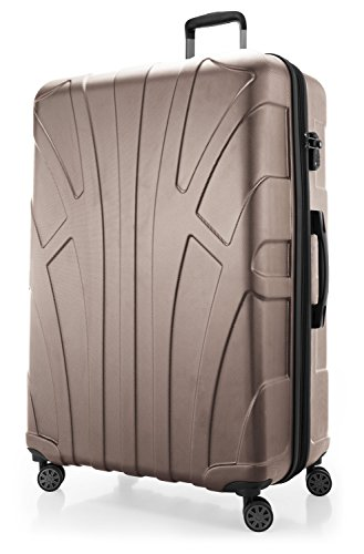 Suitline - Luggage Suitcase Extra-Large XL Hardside Hard Shell Spinner Trolley 4 Wheel Case, TSA, 85 cm, 160 Liter, Gold