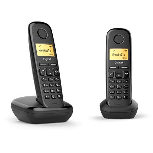 Gigaset A170 Duo - Teléfono Inalámbrico, Pack de 2 Unidades, Agenda 50 Contactos