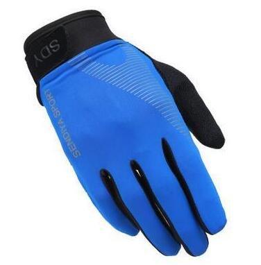 Gants d'équitation intégraux pour Hommes, Coupe-Vent d'hiver pour Hommes, écran Tactile, Gants de vélo de Moto, Pare-Brise - G082 Bleu, Taille Unique