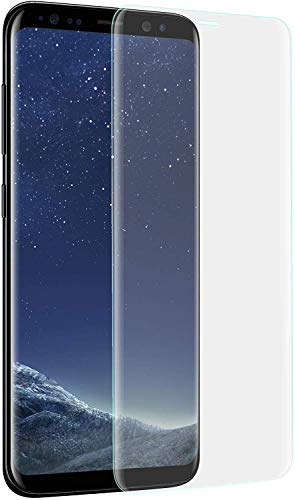 VAPIAO 2er Pack [2 Stück] Displayschutz Folie Panzer kompatibel mit Samsung Galaxy S8 / S9 Schutzfolie für gewölbte Displays Full Cover Curved 3D Nano Screen Protector in Transparent