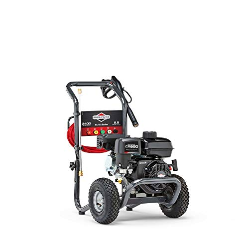 Briggs & Stratton 3400 MAX PSI / 2.8 MAX GPM Gas Pressure Washer with 30-Foot EZ Flex Hose, 5 Quick-Connect Nozzles, Powered by Briggs & Stratton