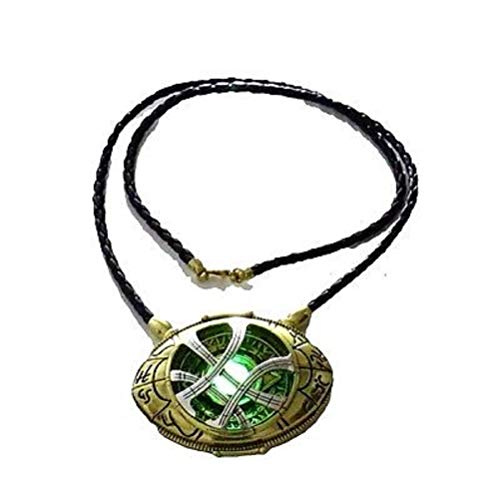 71mm Dr Doctor Strange Eye of Agamotto Amulet Pendant Necklace Glow in The Dark