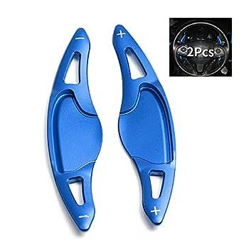 SANRILY Paddle Shifter Extensions for Honda HR-V HRV 2016-up,Vezel 2015-2017 ,New City 2014-2018  Fit Jazz 2017-up Replacement Kit CNC Billet Aluminum Sport Shift Paddles Shifters- Blue