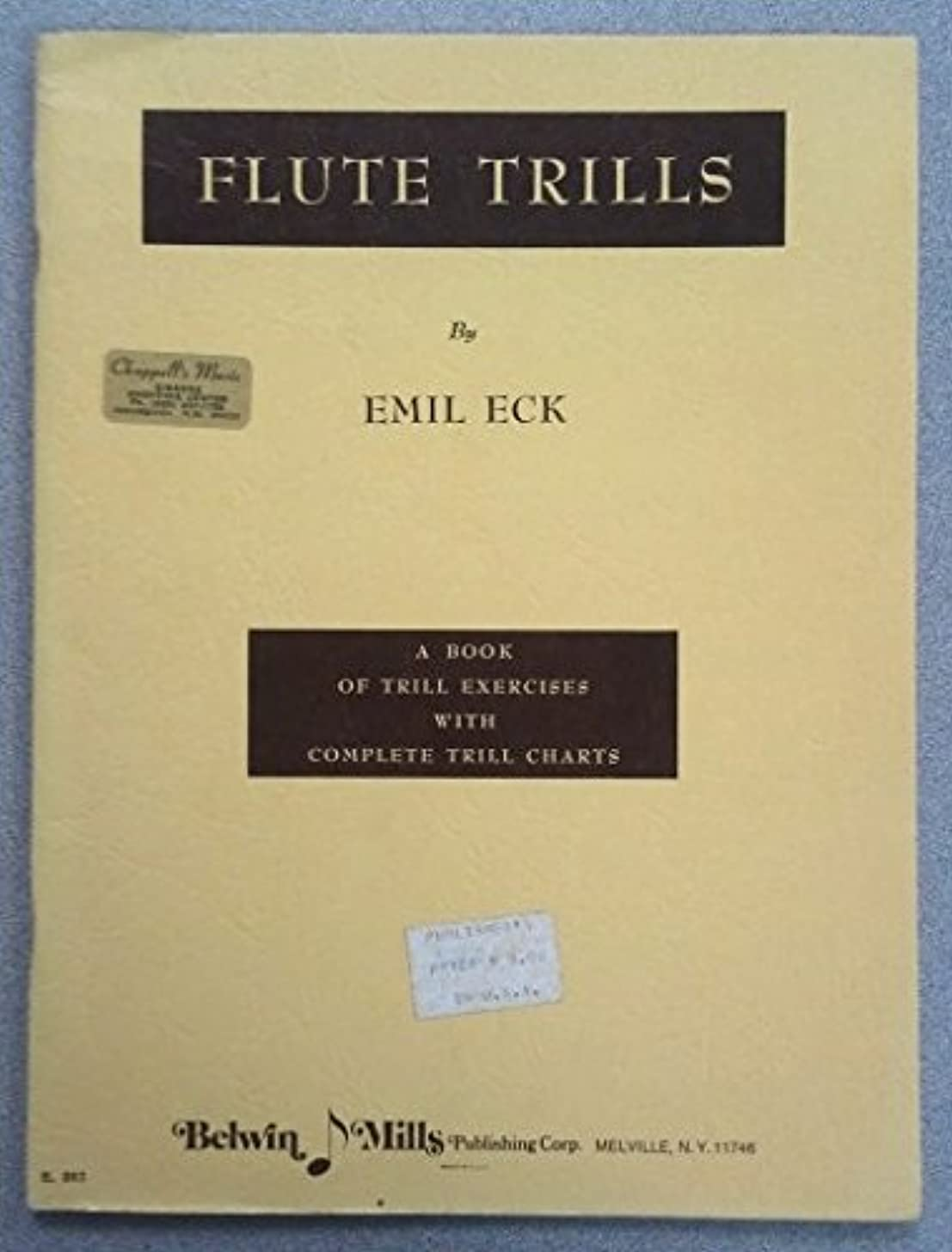 Flute Trills - A Book of Trill Exercises with Complete Trill Charts