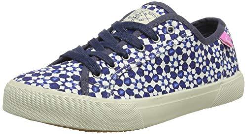 Joules Damen Coast Pump Sneaker, Weiß (White Geo Whtgeo), 39 EU