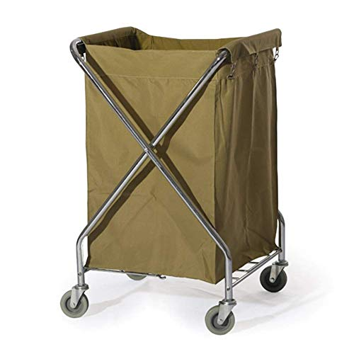 LJWJ Carts,Storage Car Service Car Utility Vehicle Multifunction Portable Trolley Home Commercial Rolling Laundry Sorter Cart on Wheels, Heavy Duty Hotel Housekeeping Service Utility Cart with Remova