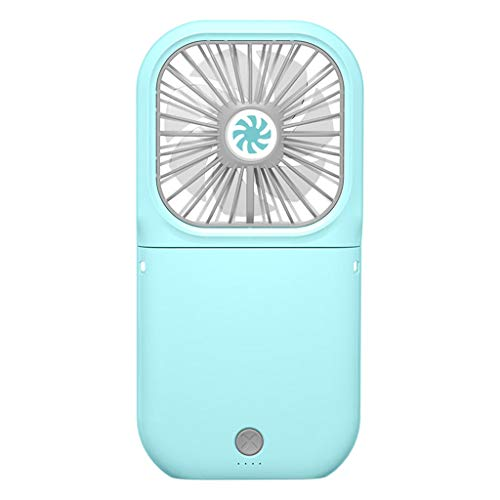 Find Discount CHEERM Portable Hanging Neck Fan Foldable and Compact USB Rechargable Power Bank Fan 3...