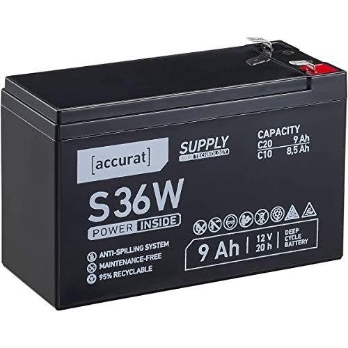 Accurat 12V 9Ah Blei-Akku AGM Blei-Batterie Zyklenfest Supply-Serie VRLA Versorgungsbatterie S36W (wartungsfrei)