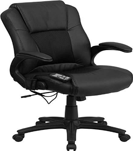 Flash Furniture Ergonomic Massaging Black LeatherSoft Executive...