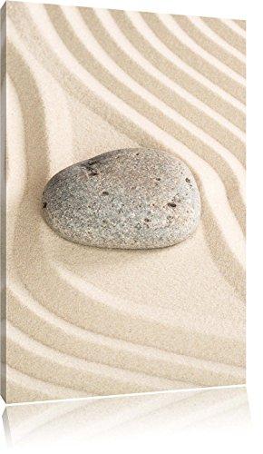 Steinim Sandmuster, Format: 60x40 auf Leinwand, XXL riesige Bilder fertig gerahmt mit Keilrahmen, Kunstdruck auf Wandbild mit Rahmen, günstiger als Gemälde oder Ölbild, kein Poster oder Plakat