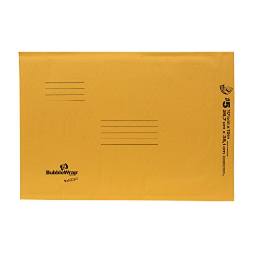 Duck Brand Kraft Bubble Mailers, #5, 10.5 x 15 Inches, 25-Pack (394507)