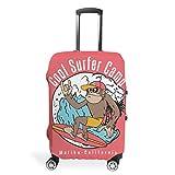 Neuheit Lässig Mehrere Muster Reisegepäckhülle Zipper Suitcase Cover Kratzfest 18/24/28/32 Zoll für Reise White XL(30-32 inch)