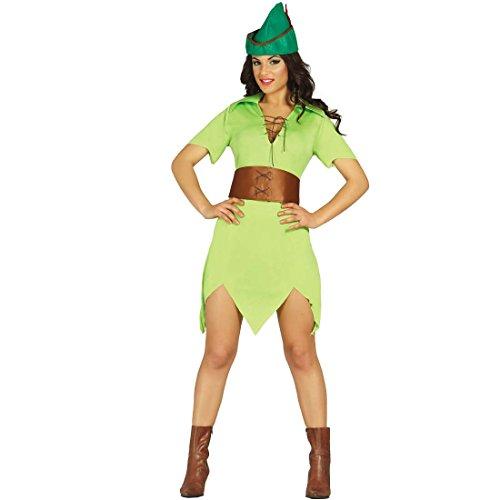 NET TOYS Vestito da Arciere Donna Costume Medievale viandante dei boschi M 42/44 - Mascheramento di Carnevale Ragazza della Foresta Travestimento Robin Hood Donna Abito Medioevo Festa in Maschera