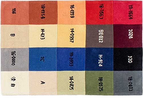 Lifetex.eu Teppich Farbmuster ca. 120 x 180 cm Mehrfarbig handtuft Polyacryl Modern hochwertiger Teppich