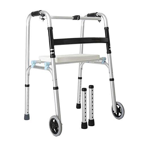 Gehrahmen Rollatoren Training Griffige Spazierstock mit Krankenhaus Walker Ältere Behinderte Four-Legged Licht Folding Wheeled leichtgewichtrollator faltbar